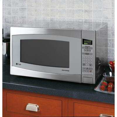 The GE Profile Series 2.2 Microwave is designed in stainless steel and ...