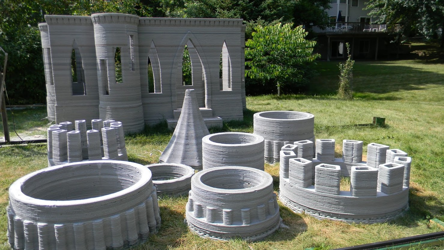a 3d printing enthusiast has printed himself a small castle