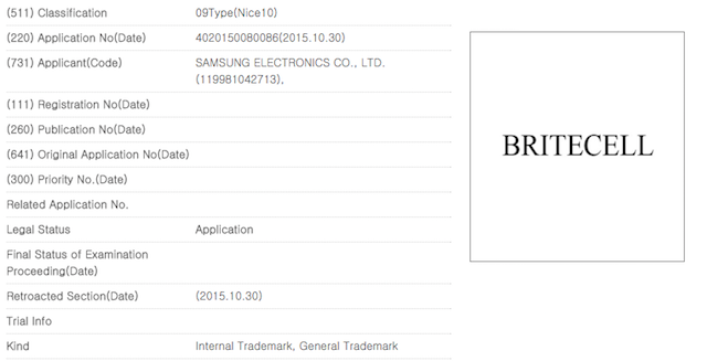 Samsung files BRITECELL patent application, hints at new ...