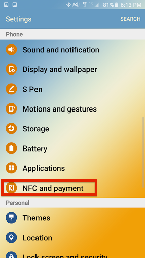 how to enable NFC on your Android smartphone 1