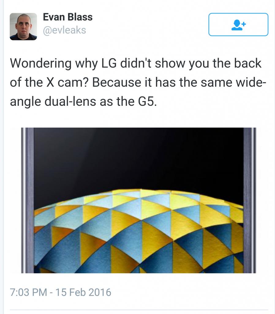LG G5 wide angle dual camera