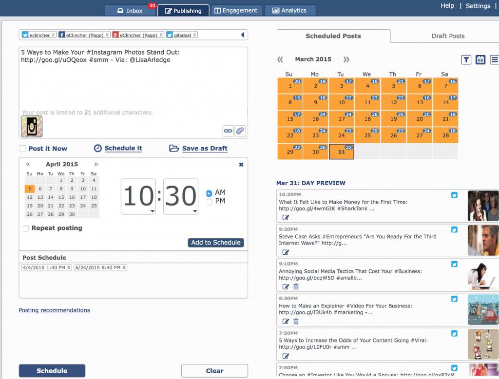 schedule social