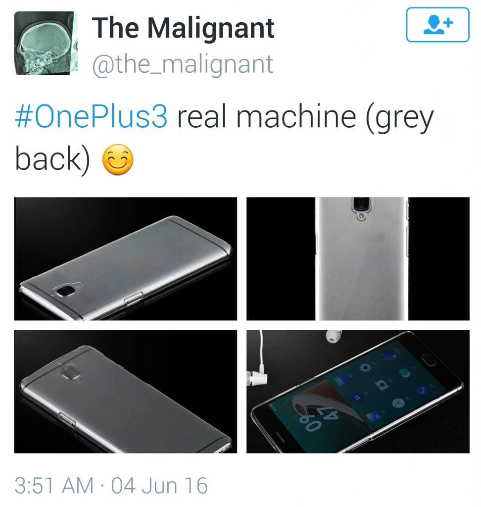 OnePlus 3 Twitter photos leak