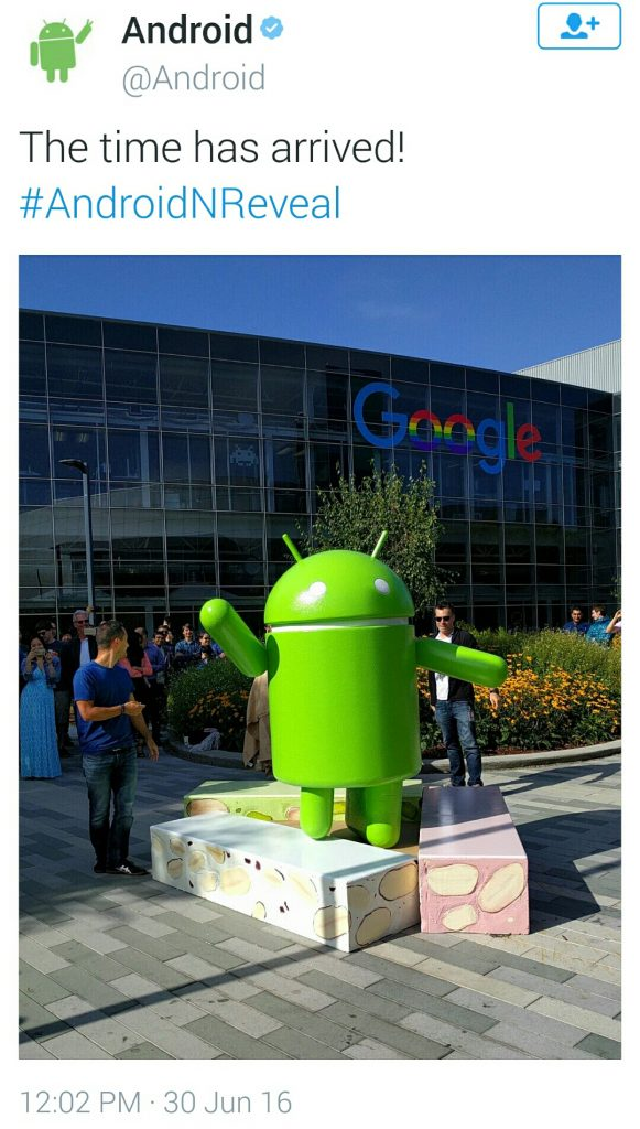 Android Nougat unveiled by Google