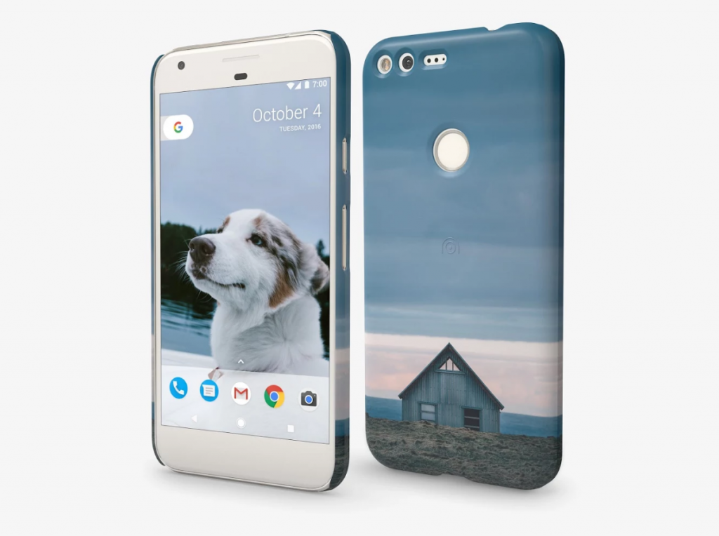 Pixel phone cases dog and moonlight