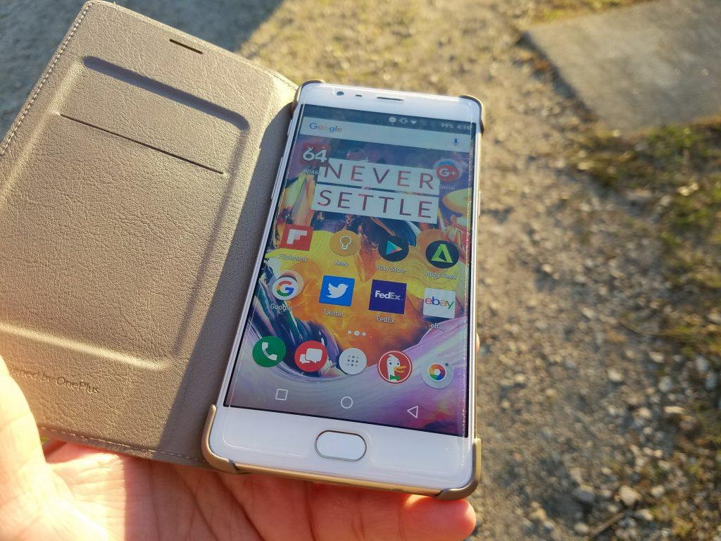 OnePlus 3 display in sun