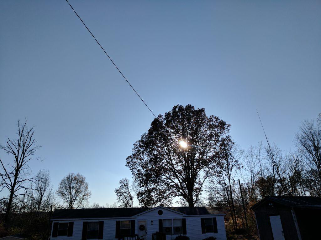 Google Pixel XL sky and sun