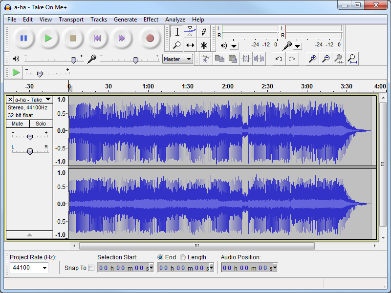 audacity how to cut a track