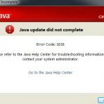 Java Install Error Code 1618