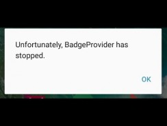 How to fix unfortunately Badgeprovider has stopped error