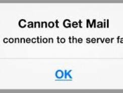 "How to fix ""Cannot Get Mail. The connection to the server failed"" error"