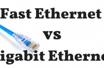 Difference between fast Ethernet vs Gigabit Ethernet