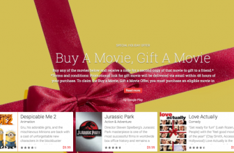 "Google's ""Buy a Movie, Gift a Movie"" helps you both give and receive for Christmas"