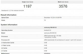 Samsung Galaxy Note 4 housing Snapdragon 810 spotted in benchmark
