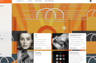 Google offers Any Album, 50% off promotion at the Google Play Store through January 4th