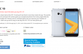 Unlocked HTC 10 discounted to $599