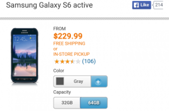 AT&T now has 64GB Galaxy S6 Active, $649.99 outright