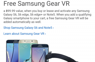 Free Gear VR headset when you purchase a compatible smartphone