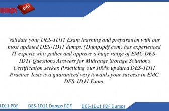 Become A Technology Architect with EMC DES-1D11 Certification