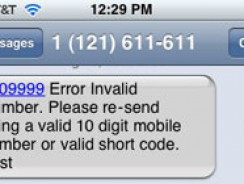 How to fix: error invalid number message in texts – iOS
