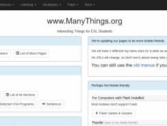 Alternatives to ManyThings.org