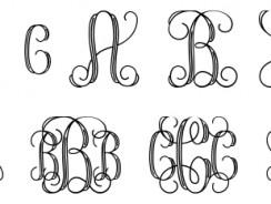Best free monogram fonts for designers