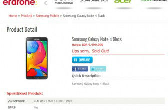 Note 4 listed on Online Market place with Price and Specs