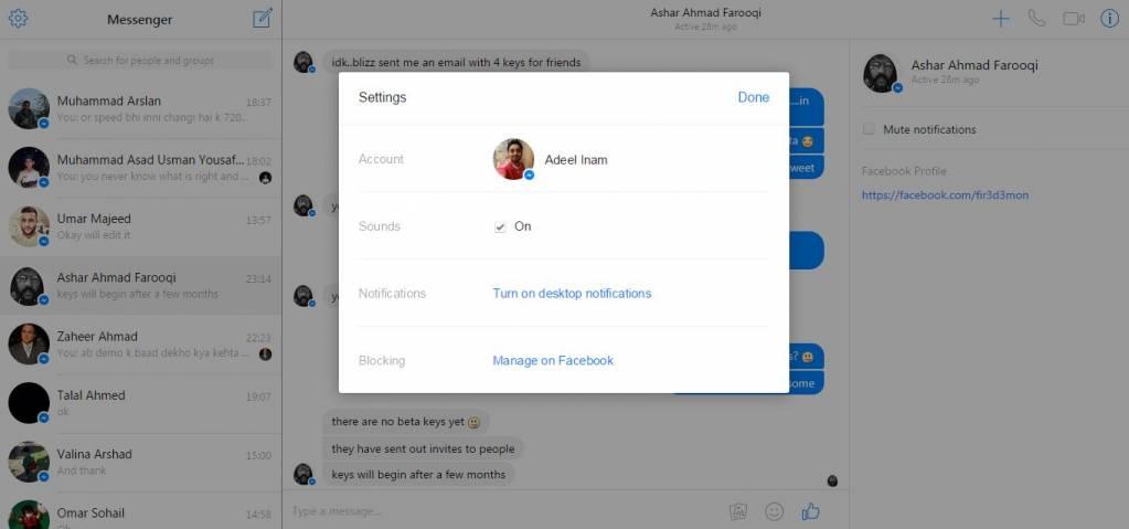 Facebook launches web version of messenger app for desktop