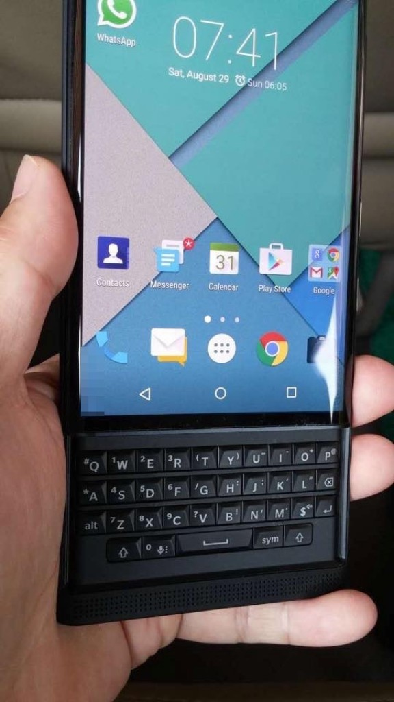 BlackBerry Venice display and slide out keyboard