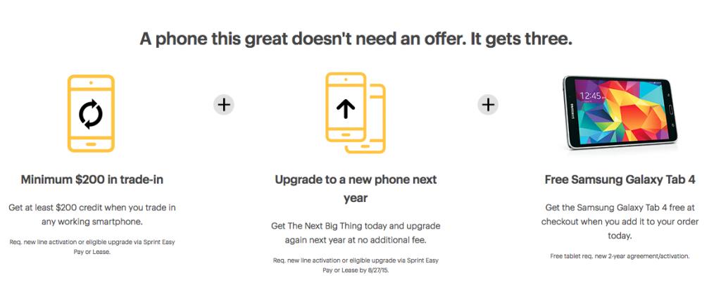 Sprint Galaxy Note 5 deal 3