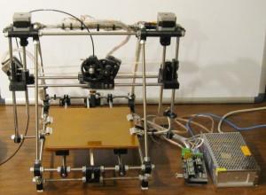 A homemade 3D-printer