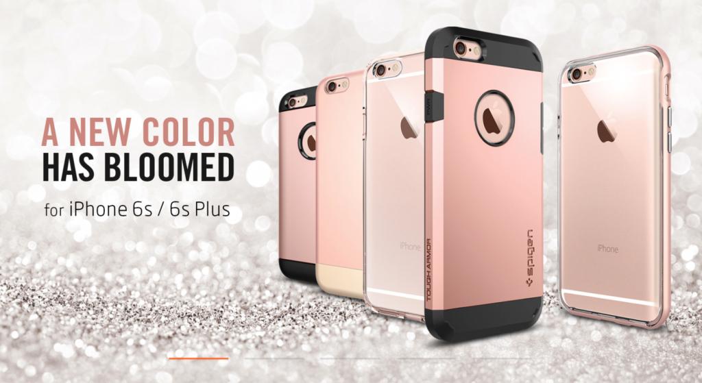 iPhone 6s iPhone 6s Plus Rose Gold color poster Spigen