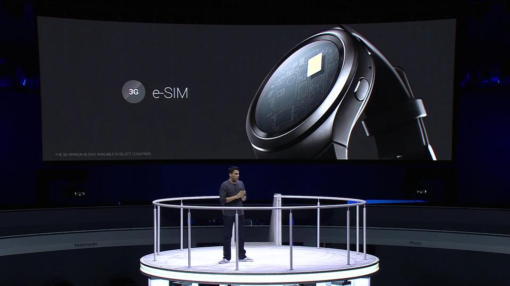 Gear S2 carries e-SIM
