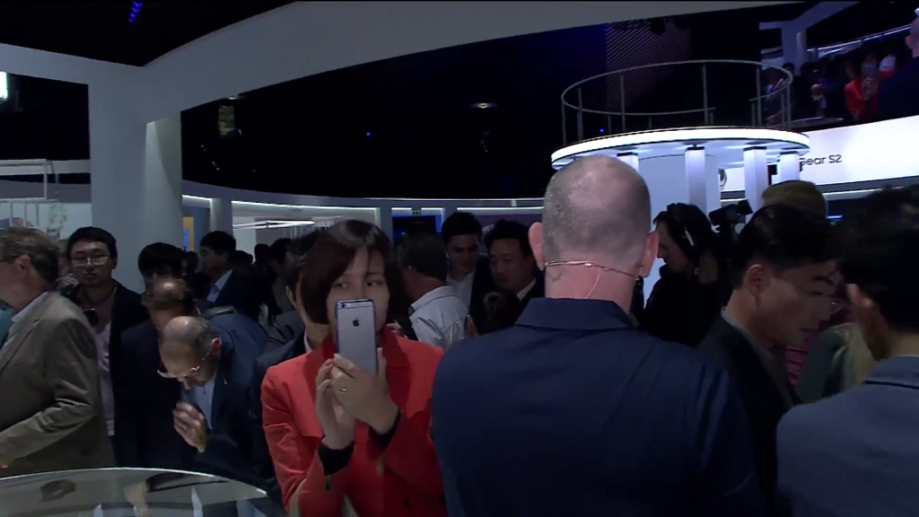 iPhone sighted at Gear S2 event