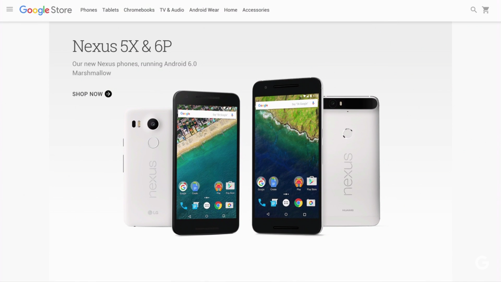 Nexus 6P Nexus 5X at Google Store
