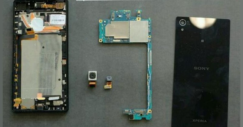 Xperia Z5 Premium with two heat pipes