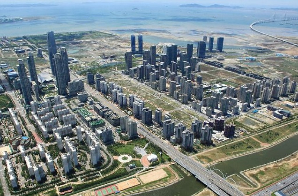 New Songdo city in South Korea,