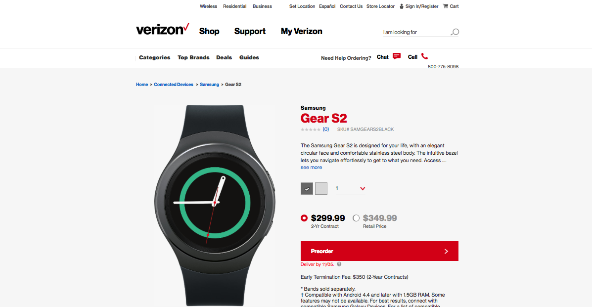 Verizon Gear S2 pre-orders are now available