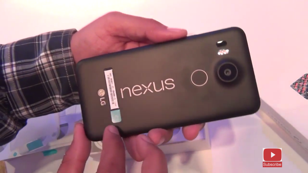 Nexus 5X branding and back cover