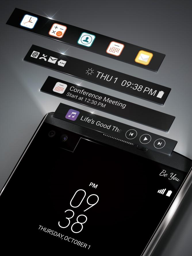 LG V10 2-inch dual screen