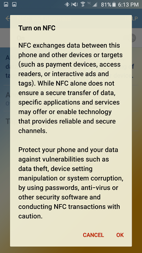 how to enable NFC on your Android smartphone