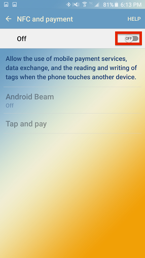 how to enable NFC on your Android smartphone 2