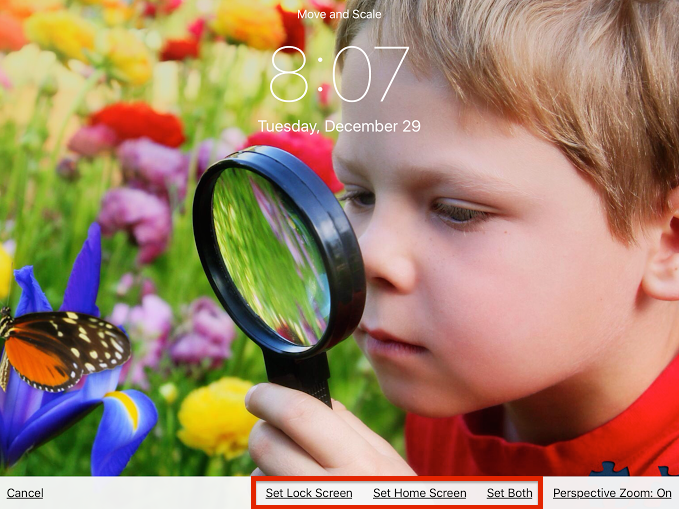 how to make wallpaper from your photos on iPhone or iPad 5