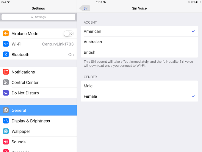 how to change Siri gender on iPhone and iPad 2