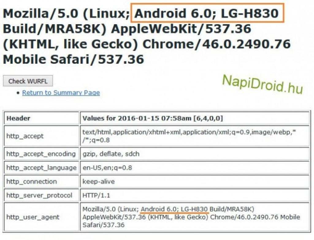 LG G5 model number user details