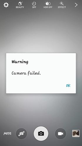 Galaxy S6 camera failed gs6 active