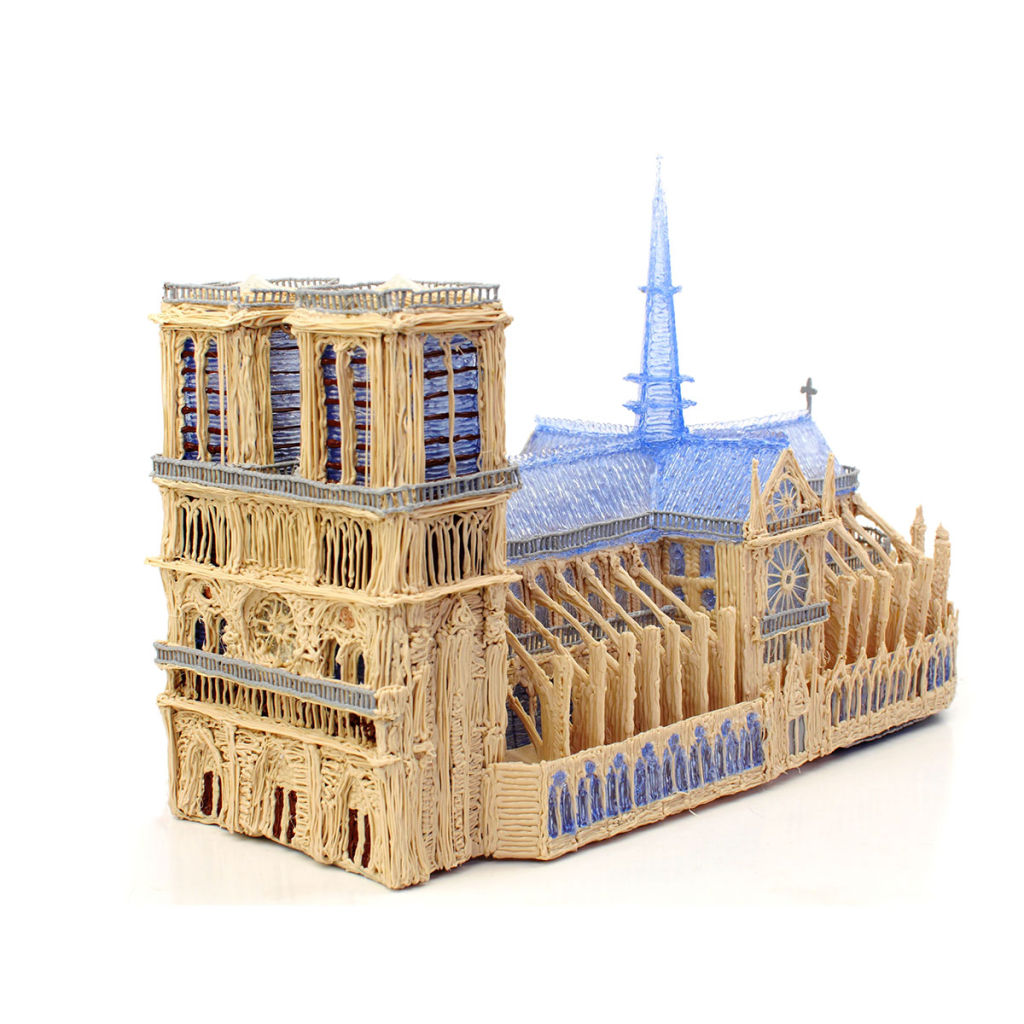 A model of Notre Damme made using 3Doodler 2.0