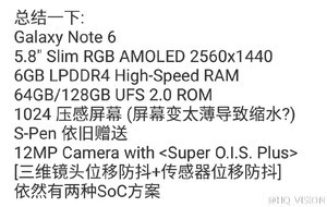 Galaxy Note 6 first specs