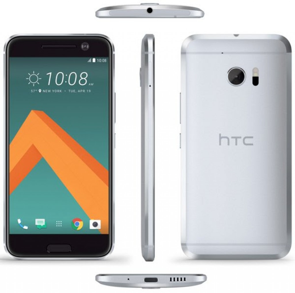 HTC 10 front back bottom and sides