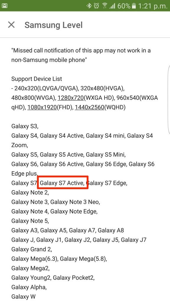 Galaxy S7 Active Level headphones changelog